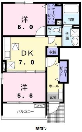 ラッフィナートA 01010号室の間取り