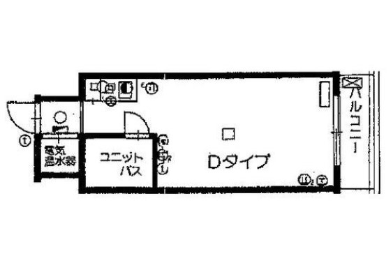 メゾン池尻大橋 405号室の間取り