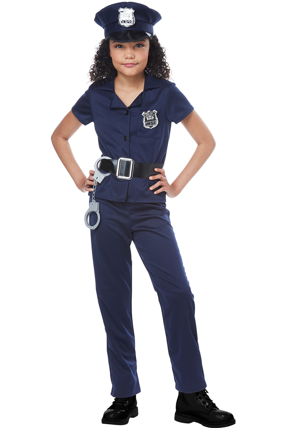 ... Picture 2 of 3 ...  sc 1 st  eBay & California Costumes Cute Cop Child Girls Halloween Costume Cosplay ...