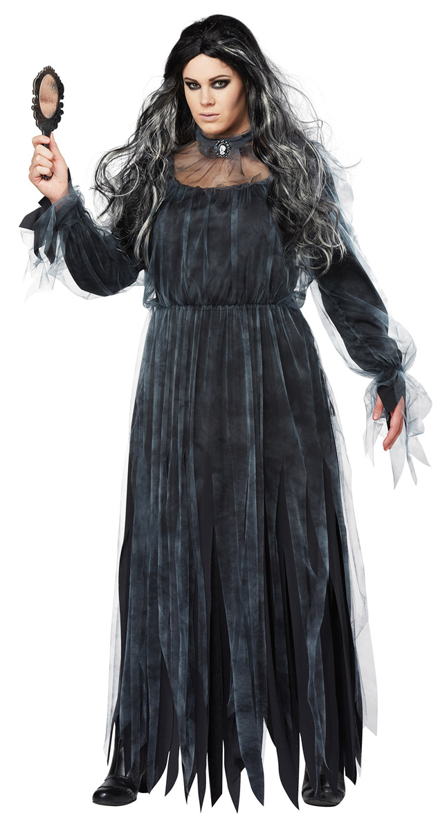 Picture 5 of 5  sc 1 st  eBay & Spooky Creepy Mirror Ghost Bloody Mary Halloween Costume Adult Women ...