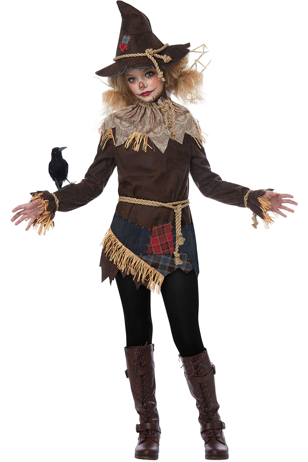 Scary Spooky Creepy Straw Puppet Scarecrow Halloween Costume