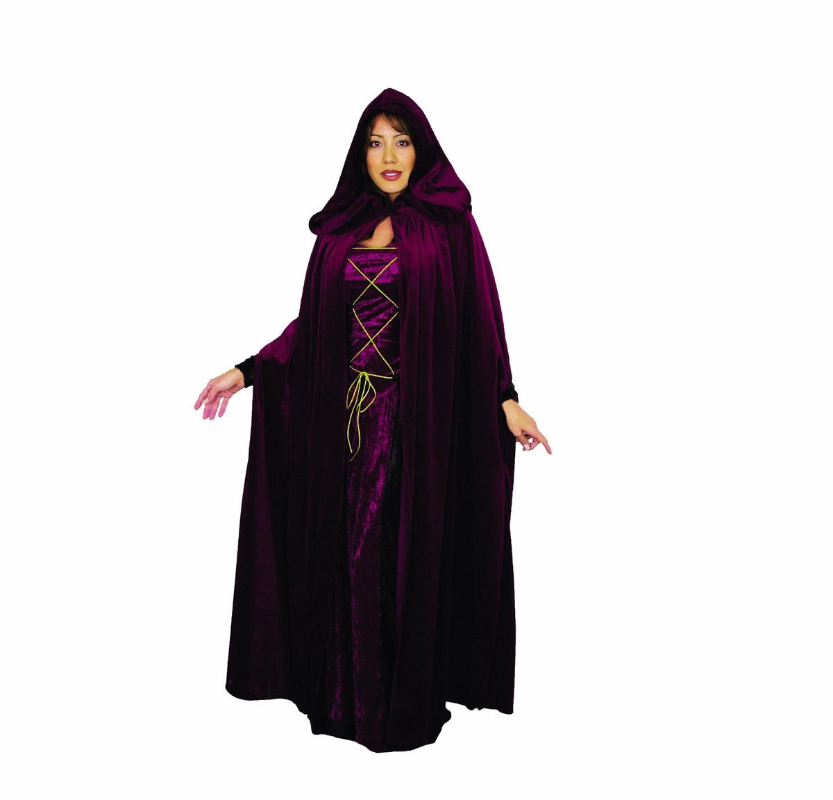 dark lair velvet cloak halloween costume witch cape