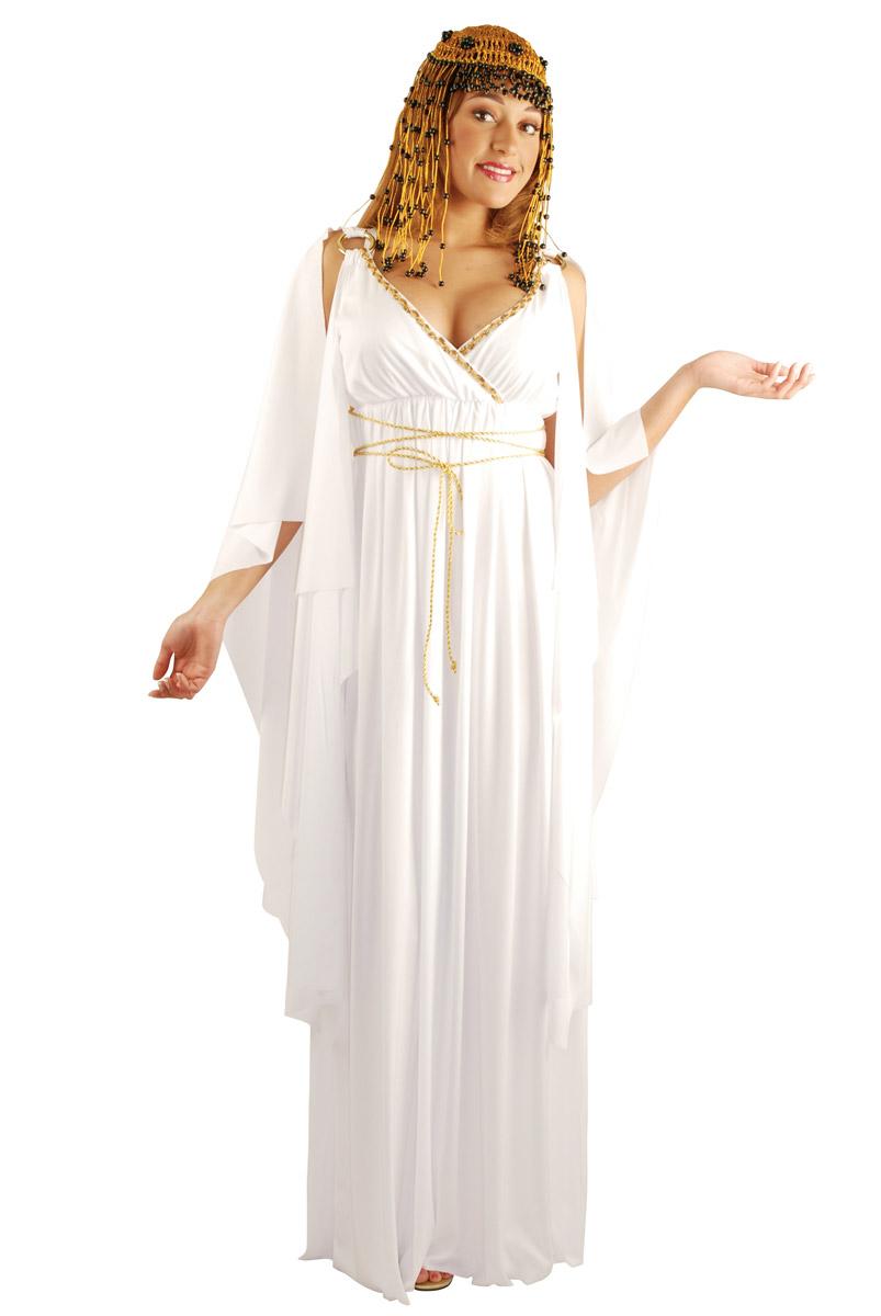 Cleopatra Goddess Gown Dress Egyptian God Greek Roman Costume Adult ...