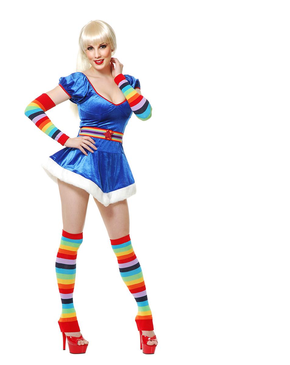 7d8ef70b6 Rainbow Striped Arm Leg Warmer Set Halloween Costume Accessory Adult ...