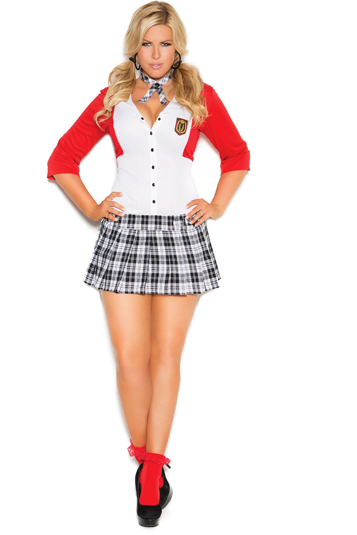 Dean List Diva Dress Attached Jacket Neck Piece Costume Adult Women