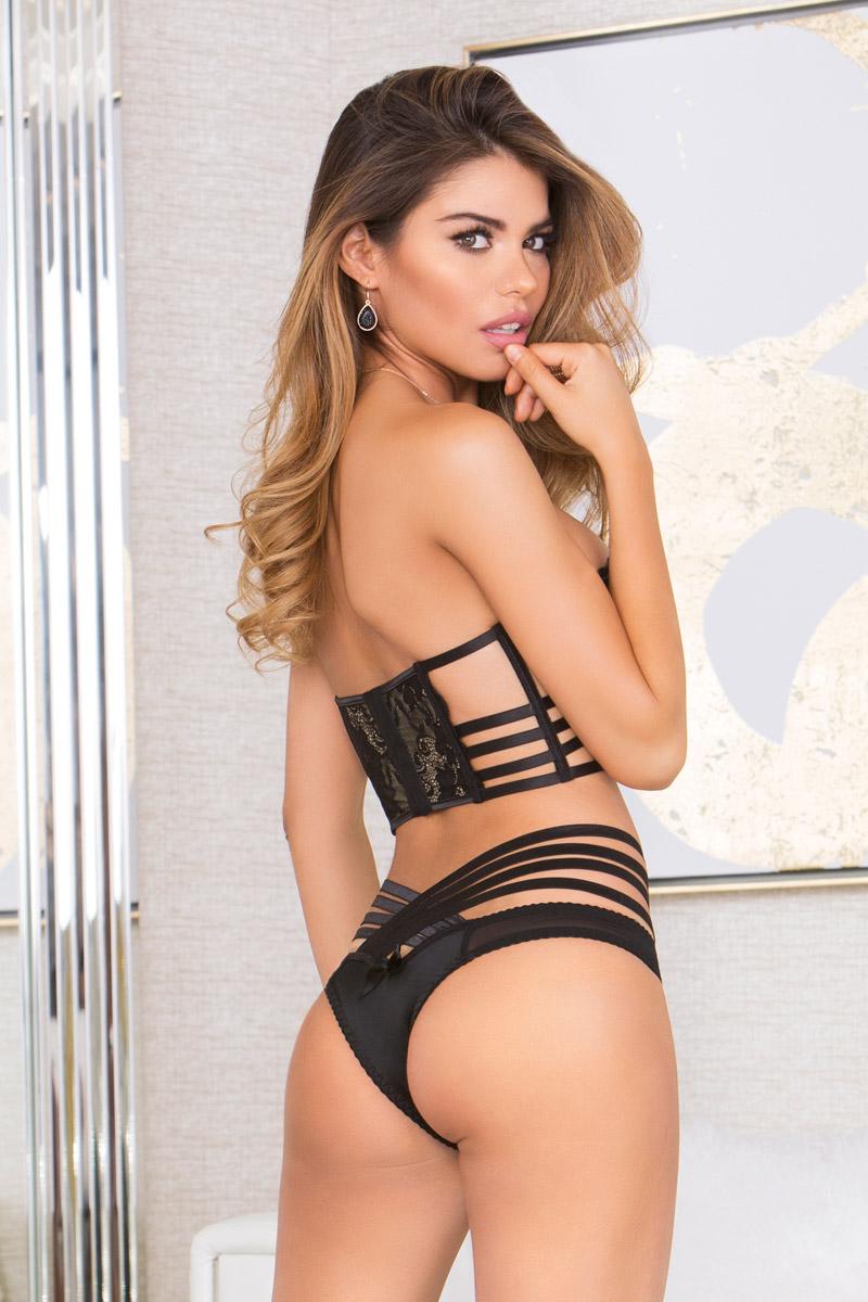 5efba779ca New Sexy Multi Strappy Lace Adult Women Lingerie Bra Panty Match Set ...