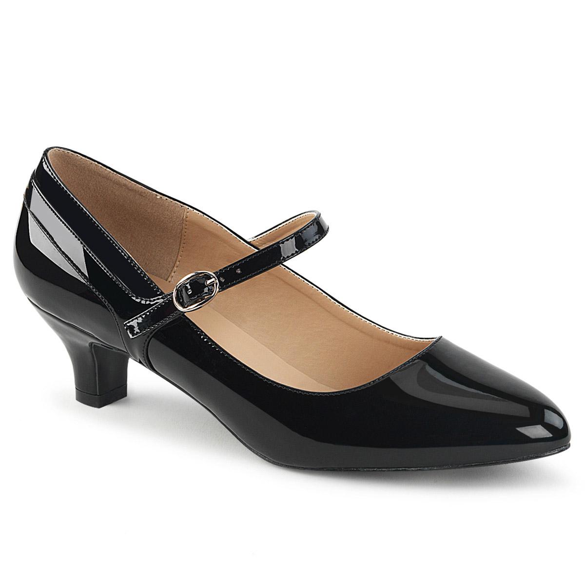Pleaser-2-034-Kitten-Heel-Mary-Jane-Pump-Adult-Women-High-Heels-Blk-Pat-Shoes