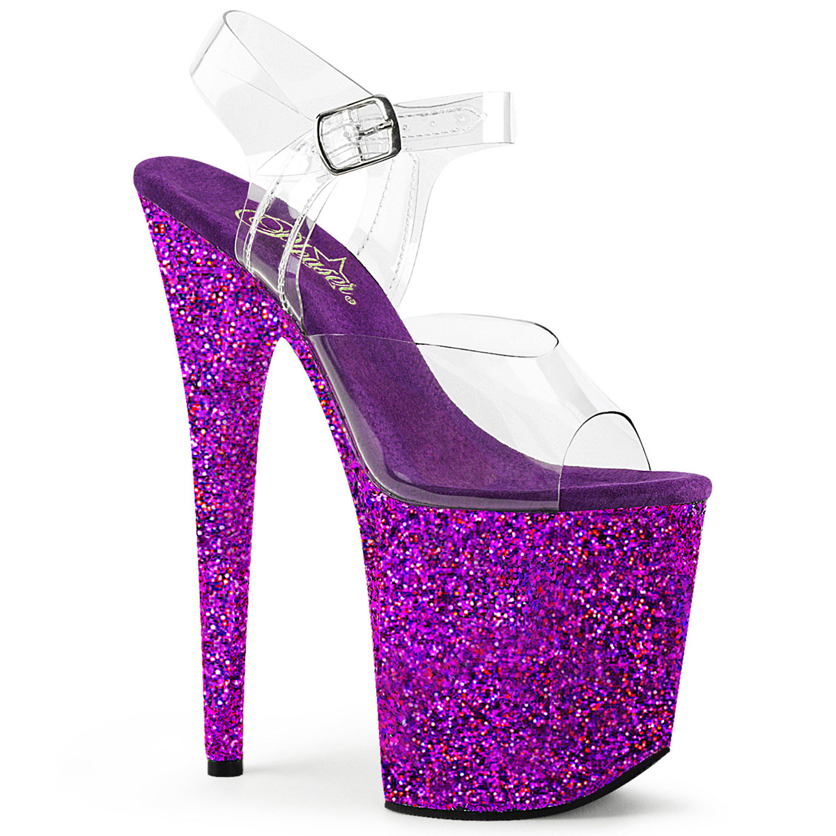 Pleaser Flamingo-808LG Glitter Ankle Strap Sandal (Women's) Cr7fRs