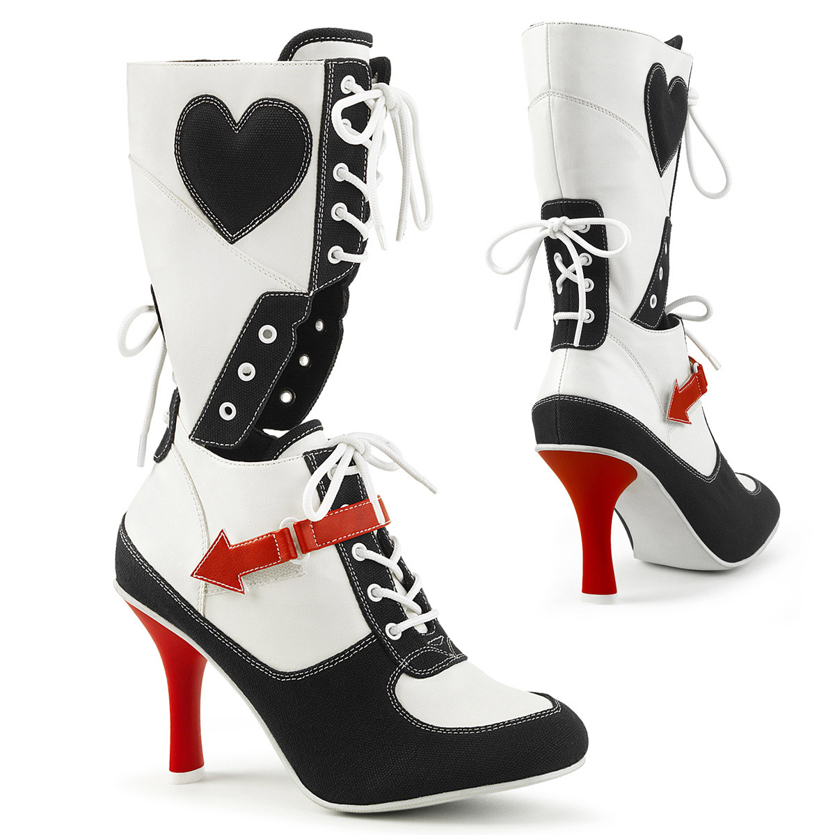 Contrast Color Mid Calf Style Referee Sport Style Calf Cosplay Boots Shoes Adult Donna 861918