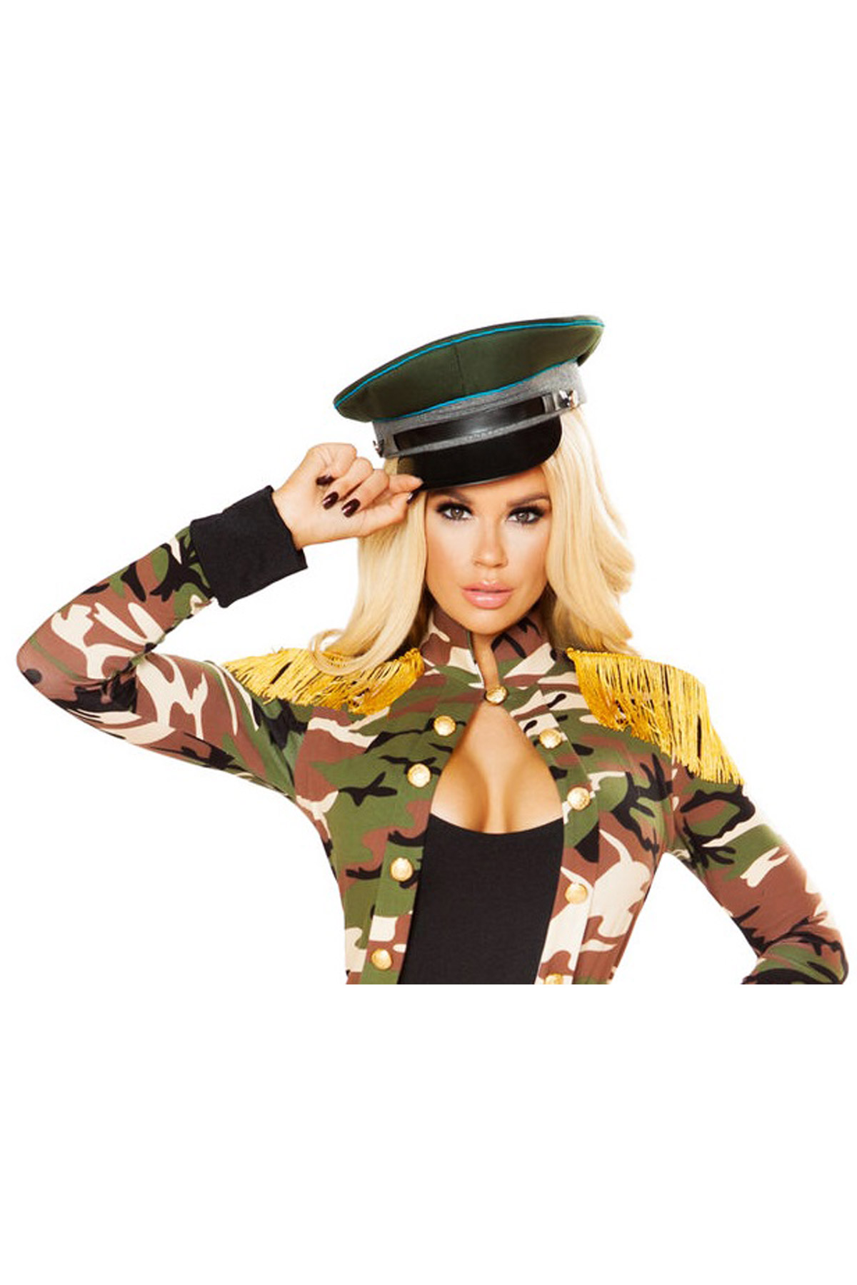 2c2afd76 Details about Sexy Army Girl Sergeant Military Hat Halloween Costume  Accessory Adult Women