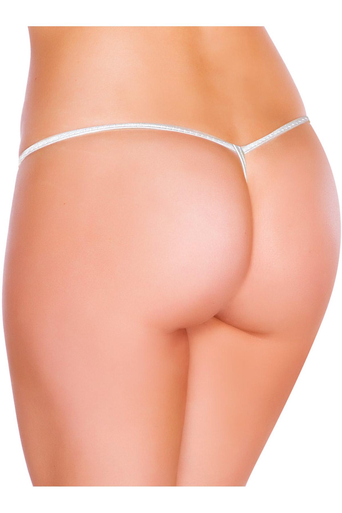 f68cd20a64ca9 Sexy Metallic Tear Drop Bottom Panties Lingerie Women
