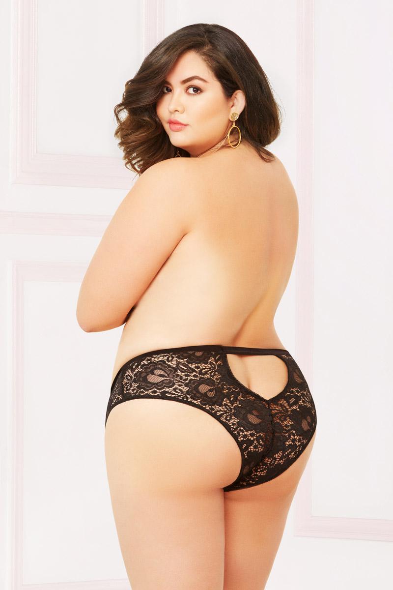 ed837d0aa Seductive Velvet Lace Cheeky Panties Back Keyhole Lingerie Adult ...