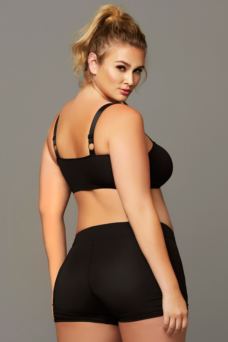 8d763170dd8fe6 Own It Seamless Soft Caged Adult Women Lingerie Plus Size Sports Bra ...