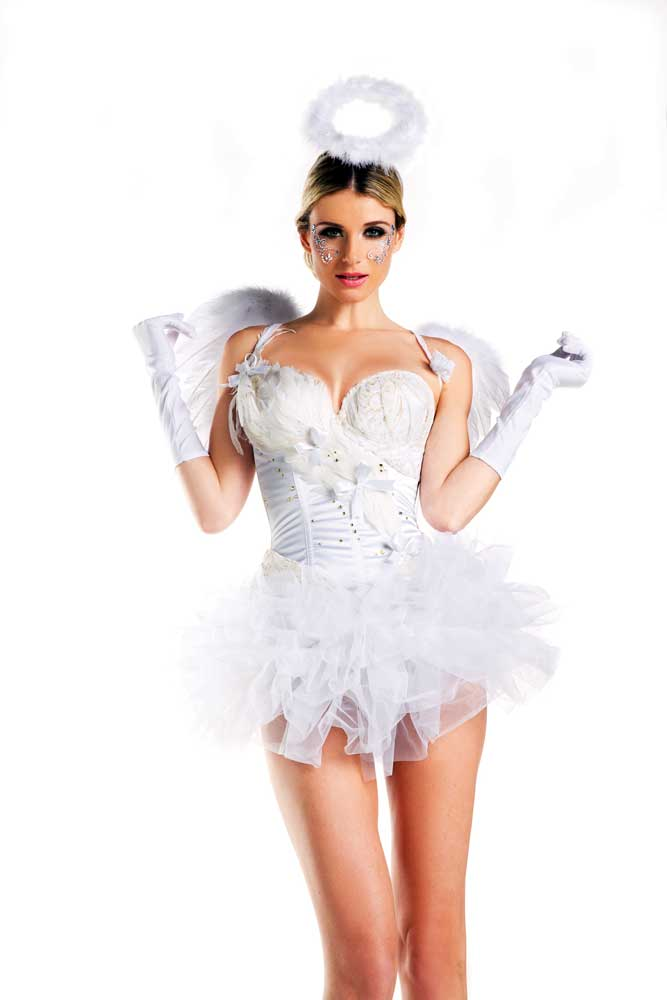 sexy white swan ballerina angel feathered corset amp
