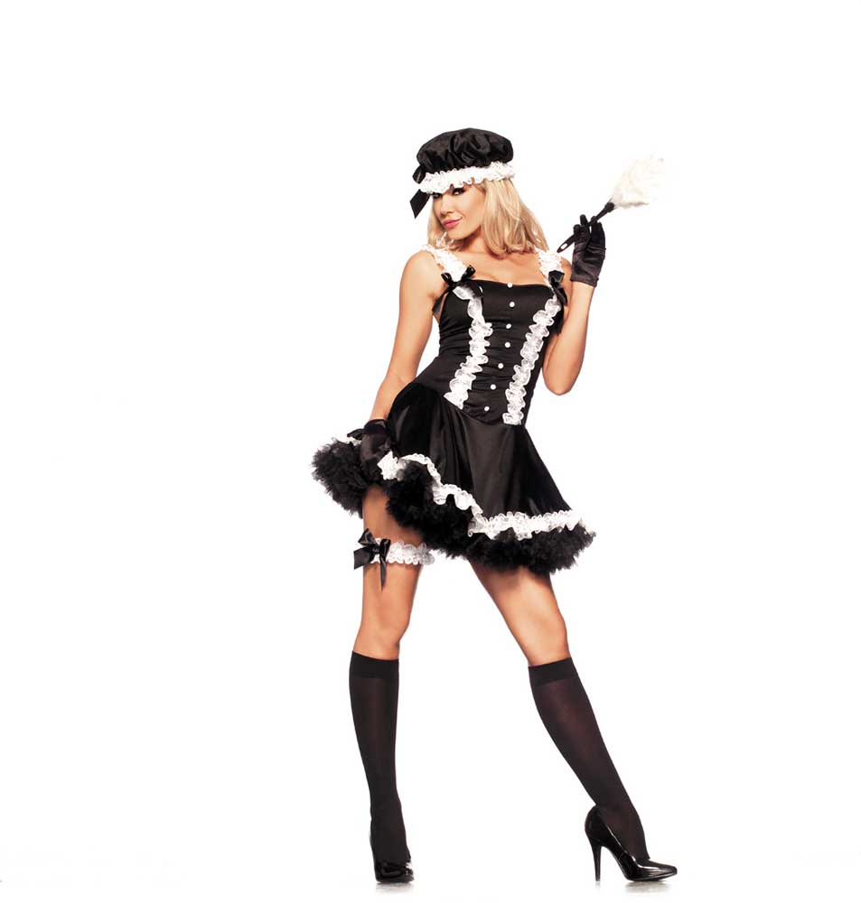 ... Picture 2 of 2  sc 1 st  eBay & Adult Women 5th Ave. French Maid Costume Halloween Outfit Dress S/m ...