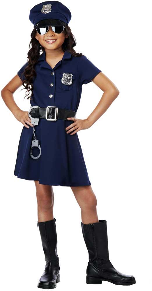 Cute little cop sheriff deputy police officer uniform girls costume child ebay - Police officer child costume ...
