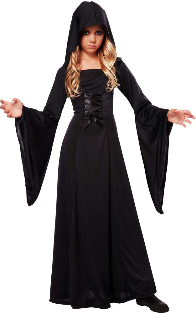Dark-Magic-Spooky-Hooded-Sorceress-Robe-Deluxe-Halloween-  sc 1 st  eBay & Dark Magic Spooky Hooded Sorceress Robe Deluxe Halloween Costume ...