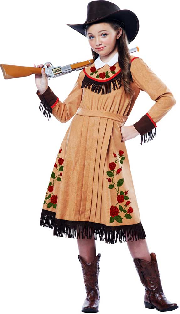 91158a6c67f Details about Wild West Annie Oakley Cowgirl Dress Outfit Cowboy   Western  Costume Child Girls