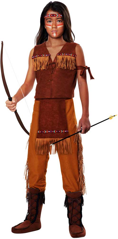 Indian Boy Warrior Squanto Halloween Outfit Native -5662