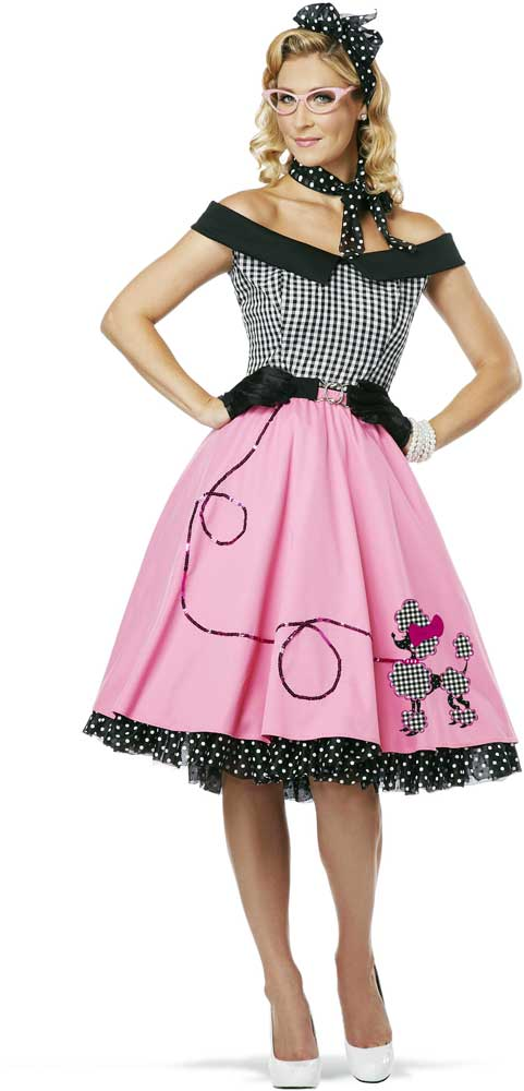 womens 50 039 s style cute poodle skirt