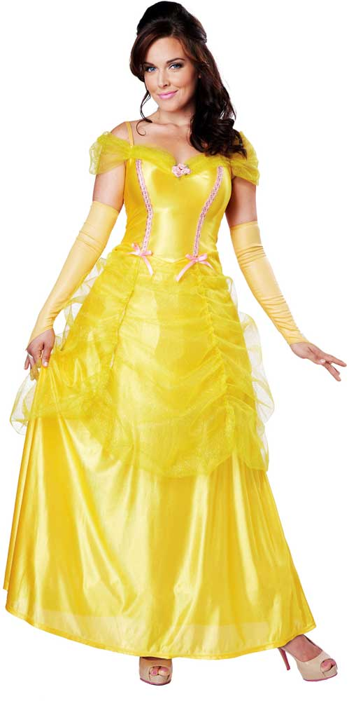 Classic-Beauty-Storybook-Princess-Belle-Halloween-Costume-Outfit-  sc 1 st  eBay & Classic Beauty Storybook Princess Belle Halloween Costume Outfit ...