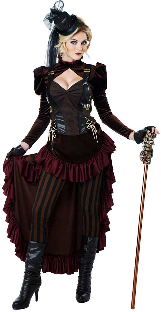 ... Picture 2 of 2  sc 1 st  eBay & Victorian Steampunk 19th Century Science Fiction Womens Costume L | eBay
