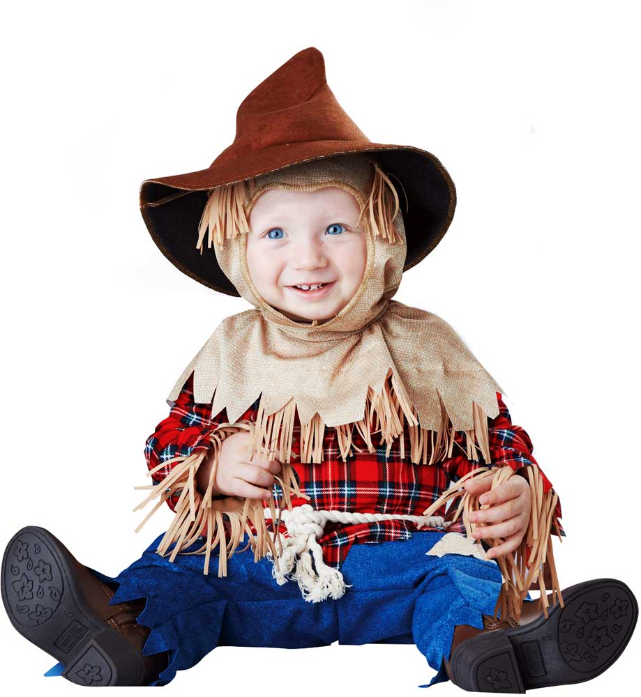 lil' silly scarecrow hay fringed halloween outfit classic costume