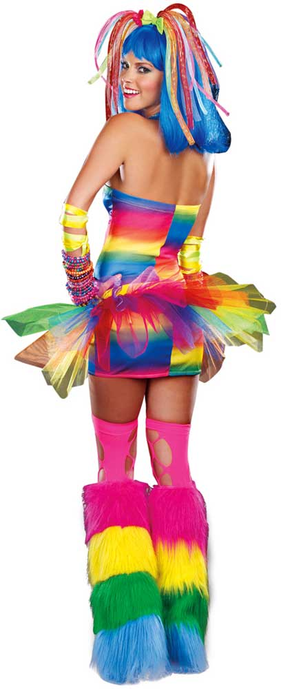 sexy rainbow dress