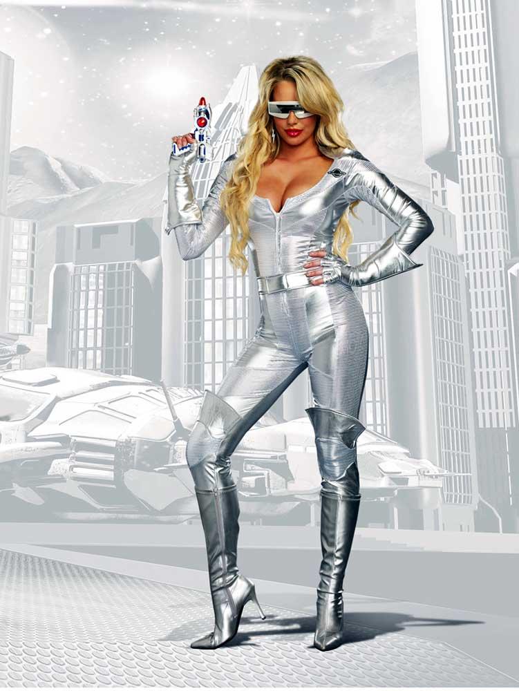 disfraz mujer futurista