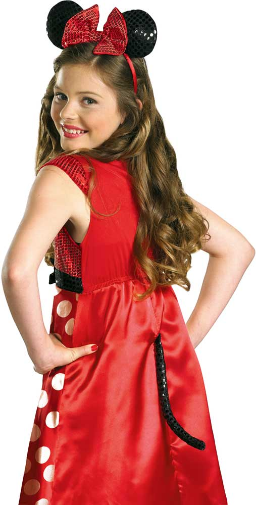Licensed-Disney-Red-Minnie-Mouse-Tween-Girl-039-s-Halloween-Costume thumbnail 4