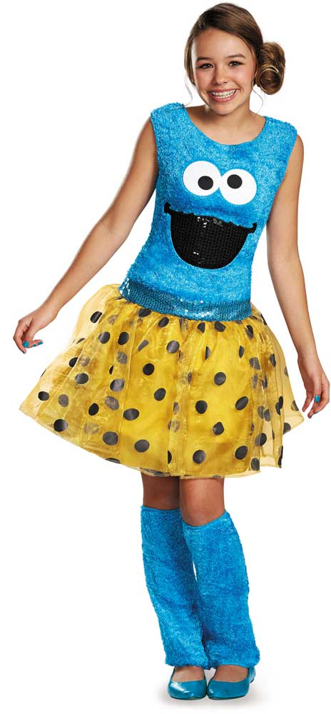 Licensed-Sesame-Street-Cookie-Monster-Deluxe-Tween-Girls-  sc 1 st  eBay & Licensed Sesame Street Cookie Monster Deluxe Tween Girls Halloween ...