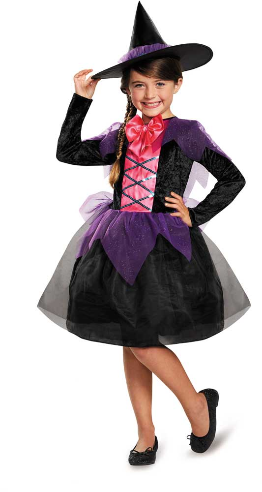 cute wtich child girl halloween costume