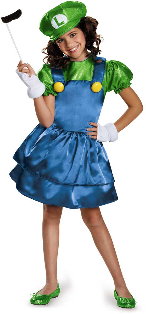Licensed Super Mario Brothers Luigi Skirt Child Girls Halloween Costume; Picture 2 of 4; Picture 3 of 4 ...  sc 1 st  eBay & Luigi Girls Super Mario Costume by Disguise Costumes Child Size 10 ...