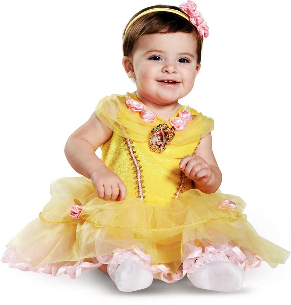 licensed disney beauty and the beast belle infant girl's halloween