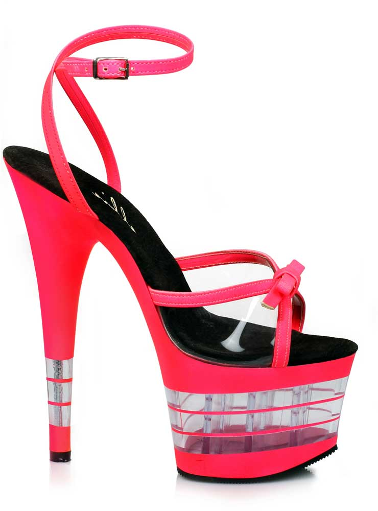 Sexy Clear Platform Stilettos Ankle Sandales Strap Sandales Ankle High Heels Schuhes Adult Damens c75956