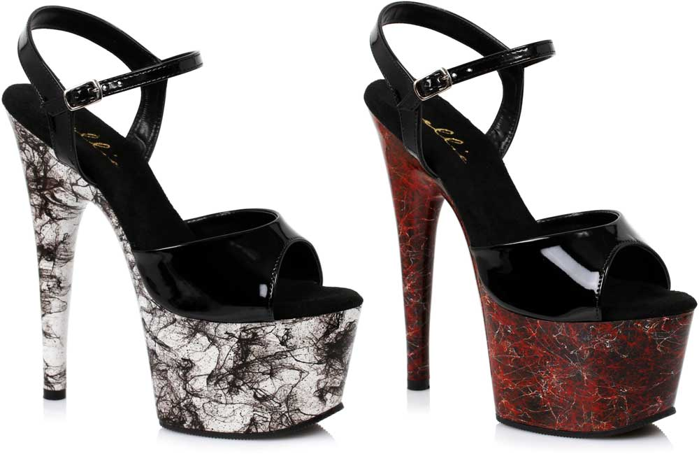 Sexy Sexy Sexy Marble Platform Stilettos Ankle Strap Open Toe High Heels Schuhes Adult Damens 9ce8c9