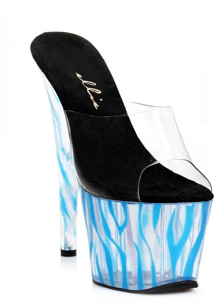 Sexy Clear Zebra Platform Stiletto Stiletto Stiletto Slip On Mule High Heels Schuhes Adult Damens 318a7b