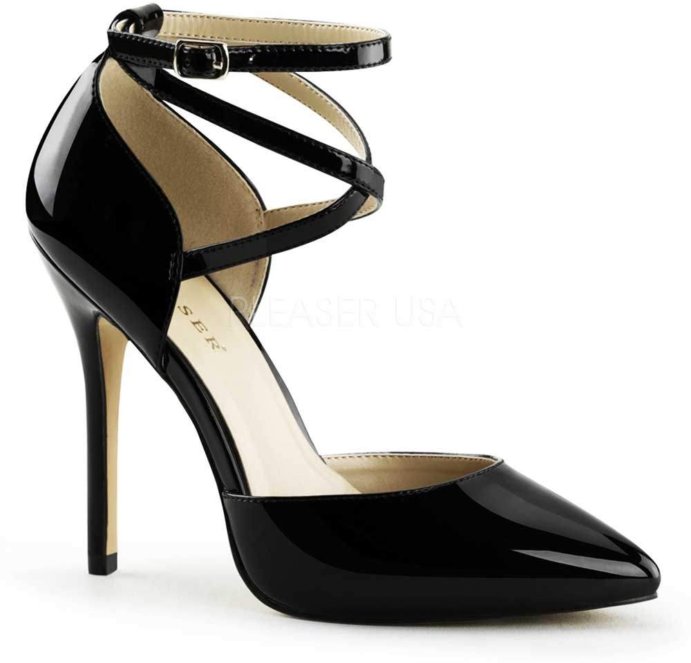 Elegant Pointed Strap Toe D'Orsay Pumps Ankle Strap Pointed High Heels Schuhes Adult Damens fc405f