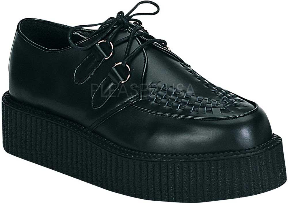 Goth Punk Rockabilly Schuhes Leder Creeper Platform Stiefel Boat Schuhes Rockabilly Adult Men 744c55