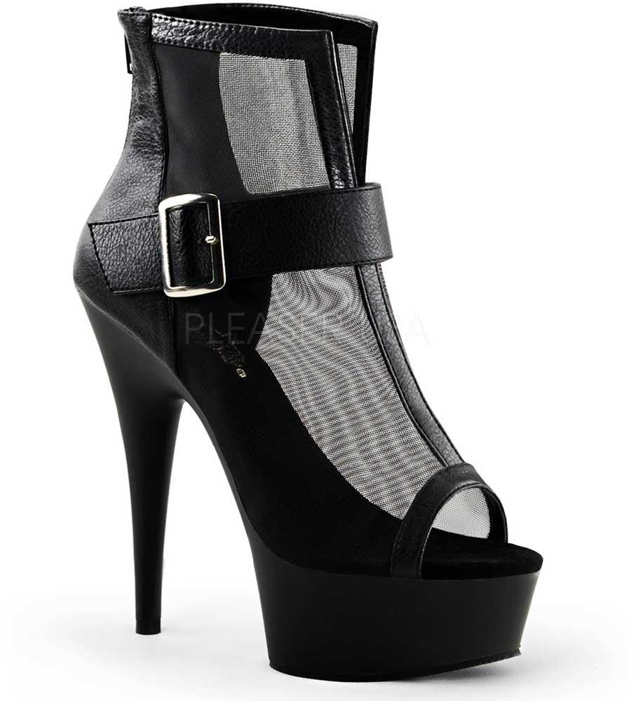 Bota Bota Bota Al Tobillo Correa Hebilla De Malla Plataforma Zapato Taco Alto Zapatos mujeres adultas ca51ff