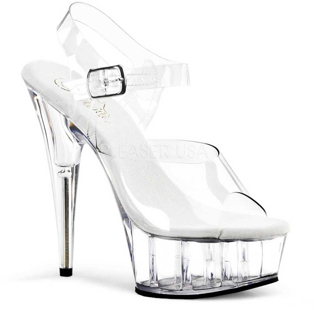 Clear Upper Sandals Platform Stiletto Ankle Strap High High High Heels schuhe Adult damen fec9af