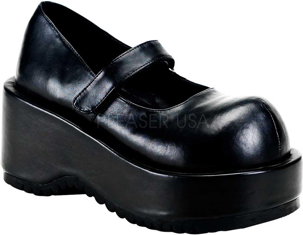 Goth Punk Lolita Platform Strap Strap Strap Mary Jane High Heels shoes Adult Women 0e9912