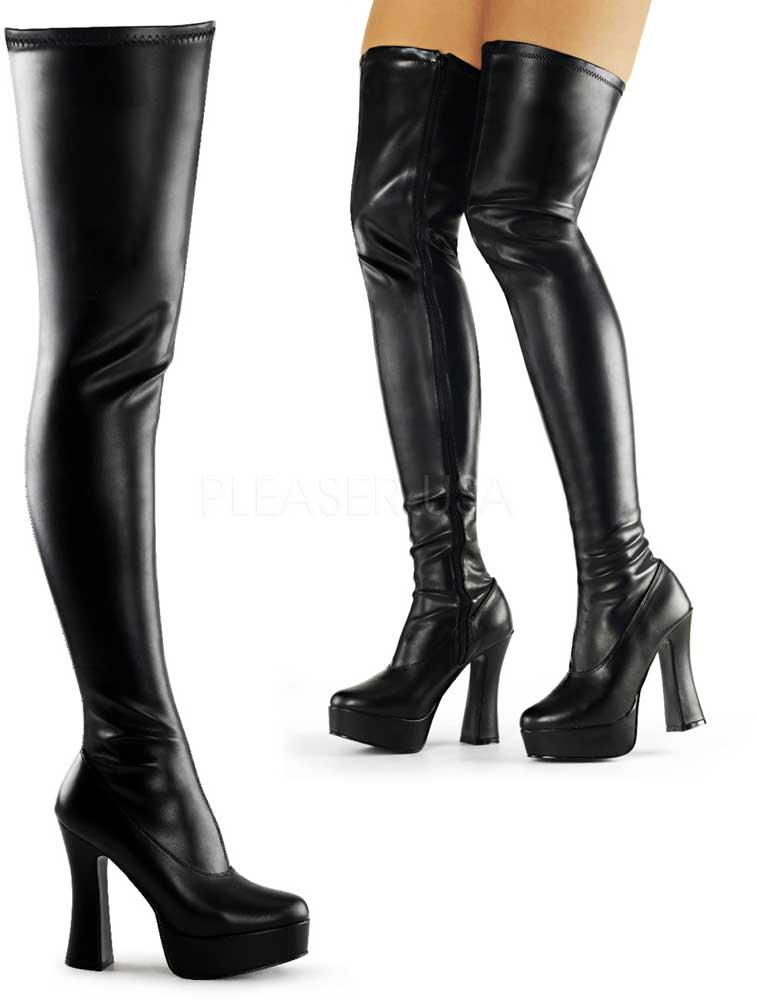 Dominatrix Side Zipper Thigh High High High Platform Stack Heels Boots shoes Adult Women 8d22c8