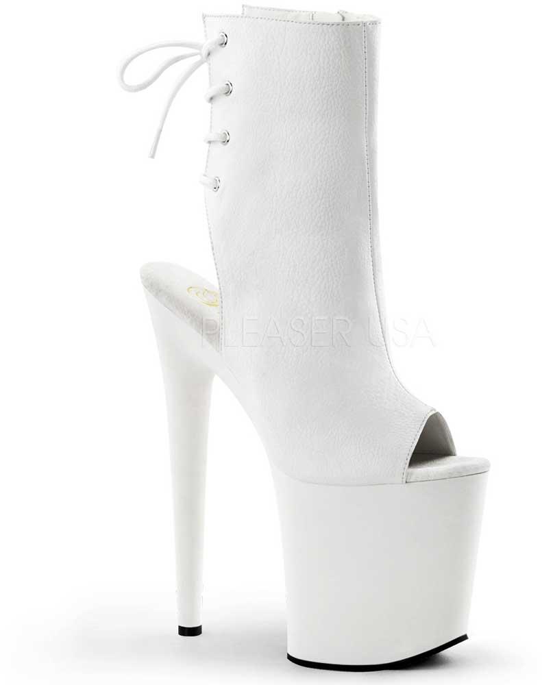 Sexy Peep Toe Lace Up Side Zipper Platform Stiletto High High High Heels schuhe Adult damen 0278f0