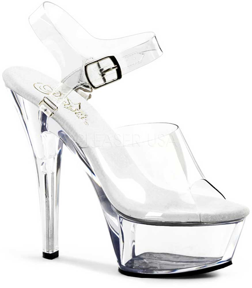Sexy Schuhes Ankle Strap Sandales Clear Platform Stiletto High Heels Schuhes Sexy Adult Damens 3d8d6e