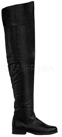 6a3e3784e985 Details about Low Heel Thigh High Pirate Swashbuckler No Zipper Boots Shoes  Adult Men