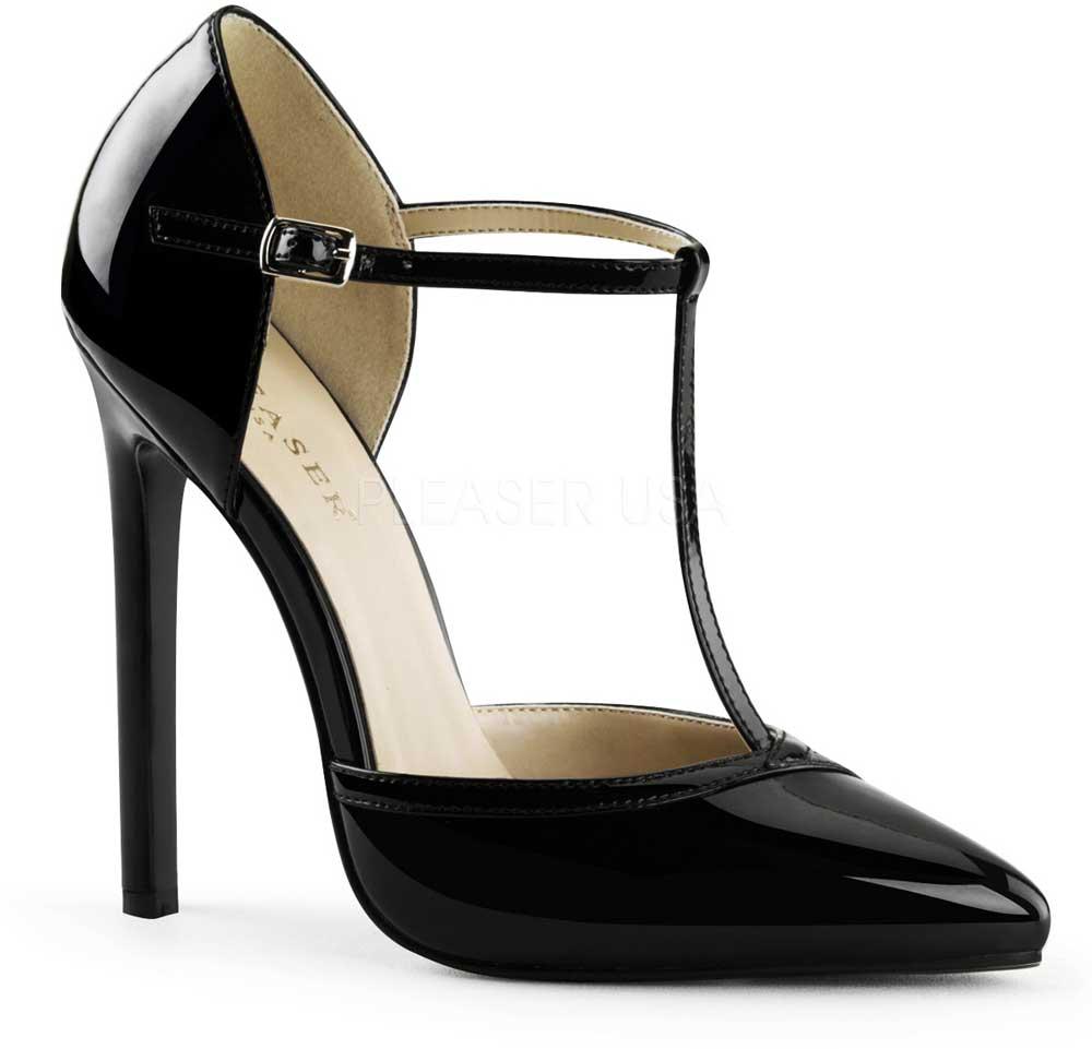 Classy Elegant T-Strap D'Orsay Pumps Sexy Stiletto High Heels schuhe Adult damen