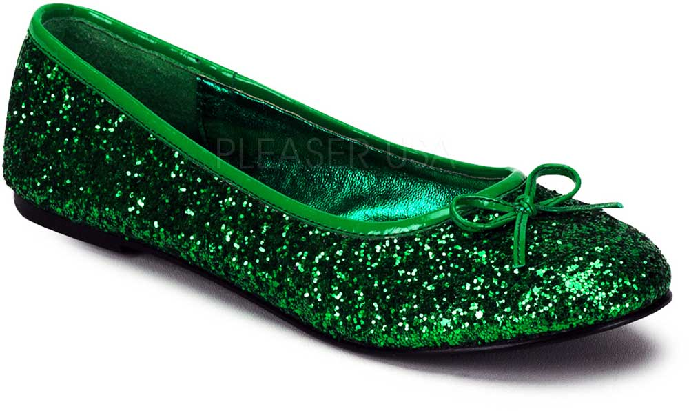 Classic Bow Accent Mary Jane Glitter Slip On Ballet Flats Shoes ... aebadb0bc