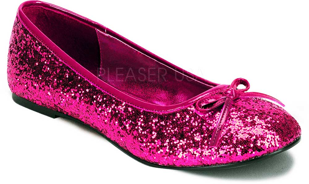 Classic Bow Accent Mary Jane Glitter Slip On Ballet Flats Shoes ... c8ecfa2dd0