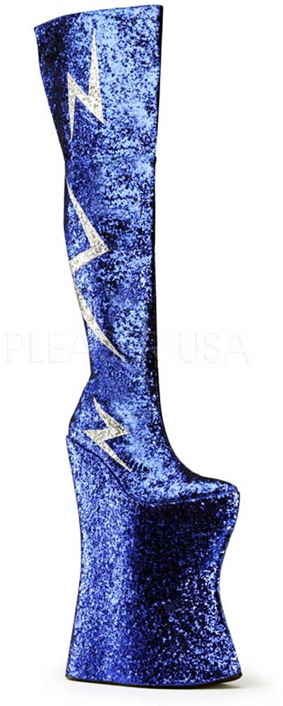 Ridiculous Stiefel Platforms Lightning Bolt Thigh High Glitter Stiefel Ridiculous Schuhes Adult Damens 1fda6c